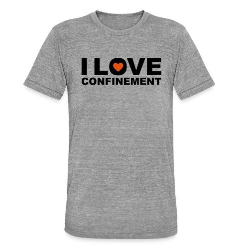 j aime le confinement - T-shirt chiné Bella + Canvas Unisexe