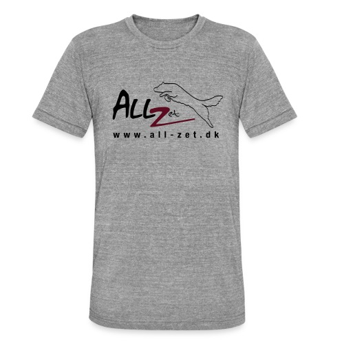 All Zet Logo - Unisex tri-blend T-shirt fra Bella + Canvas