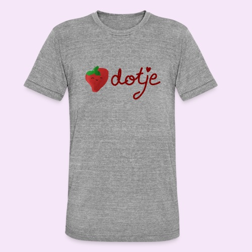 Baby aardbei Dotje - cute - Unisex tri-blend T-shirt van Bella + Canvas