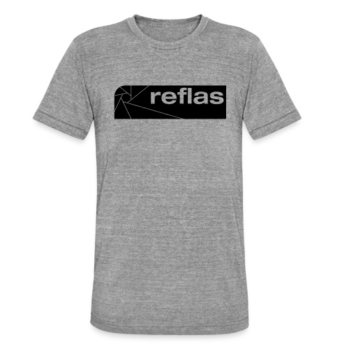 Reflas Clothing Black/Gray - Maglietta unisex tri-blend di Bella + Canvas