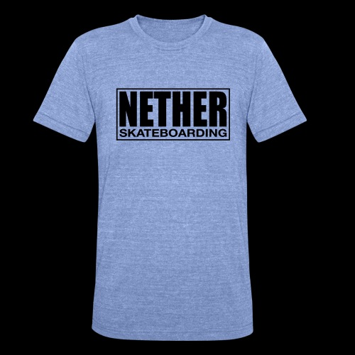Nether Skateboarding T-shirt Black - Maglietta unisex tri-blend di Bella + Canvas