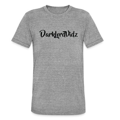 DarklordVidz Black Logo - Unisex Tri-Blend T-Shirt by Bella & Canvas