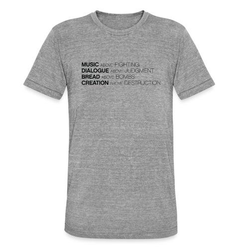 slogan png - Unisex tri-blend T-shirt van Bella + Canvas