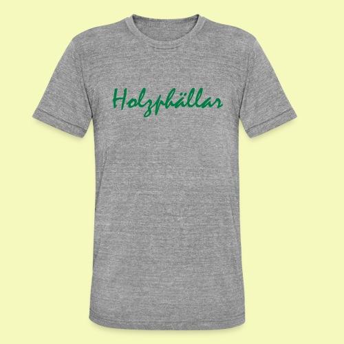 Schriftzug Grün - Unisex Tri-Blend T-Shirt von Bella + Canvas