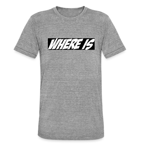Where IS - T-shirt chiné Bella + Canvas Unisexe