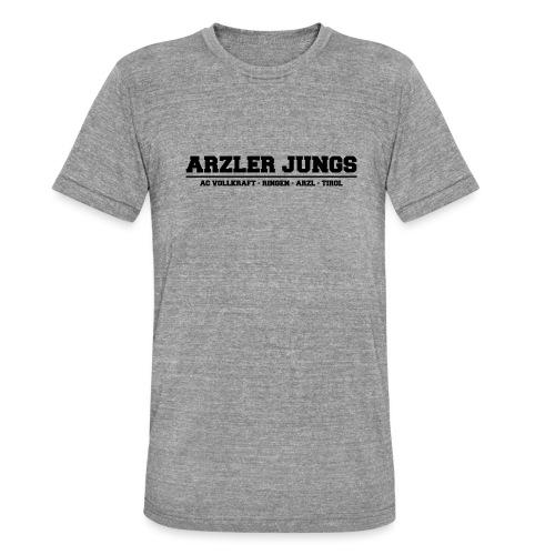 Arzler Jungs Schriftzug in Schwarz - Unisex Tri-Blend T-Shirt von Bella + Canvas