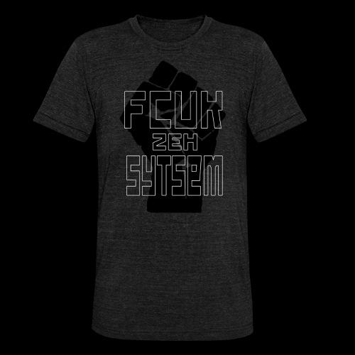 fcuk zeh sytsem - Unisex tri-blend T-shirt van Bella + Canvas