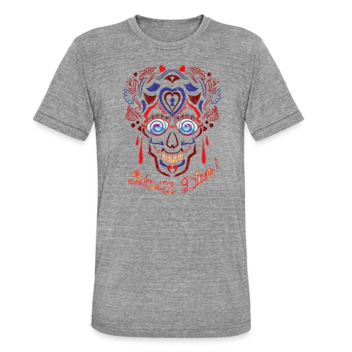 Skull Tattoo Art - Unisex Tri-Blend T-Shirt by Bella & Canvas