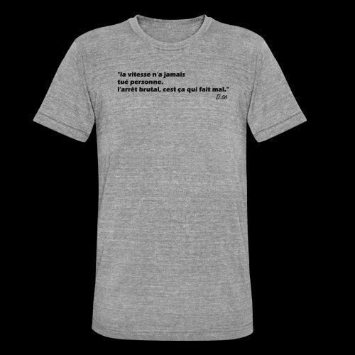 vitesse (noir) - T-shirt chiné Bella + Canvas Unisexe