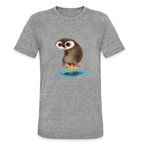 Faultierchen mit fliegenden Socken - Unisex Tri-Blend T-Shirt von Bella + Canvas