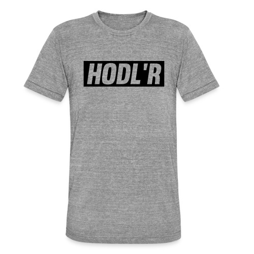 HODL'R - For the real crypto fans - Unisex tri-blend T-shirt van Bella + Canvas