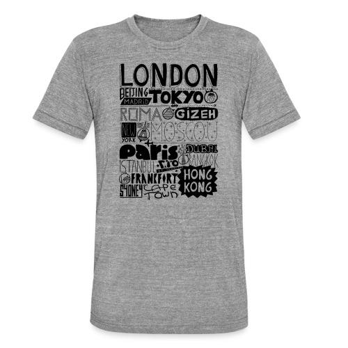 Villes du monde - T-shirt chiné Bella + Canvas Unisexe