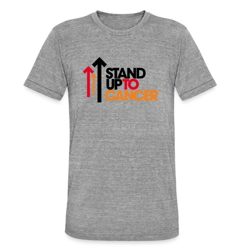stand up to cancer logo - Unisex Tri-Blend T-Shirt by Bella & Canvas