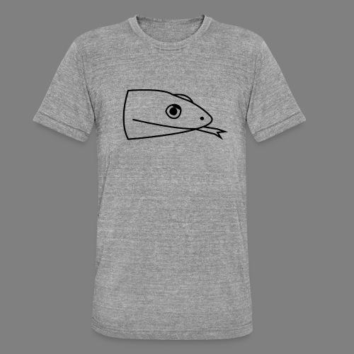 Snake logo black - Unisex tri-blend T-shirt van Bella + Canvas