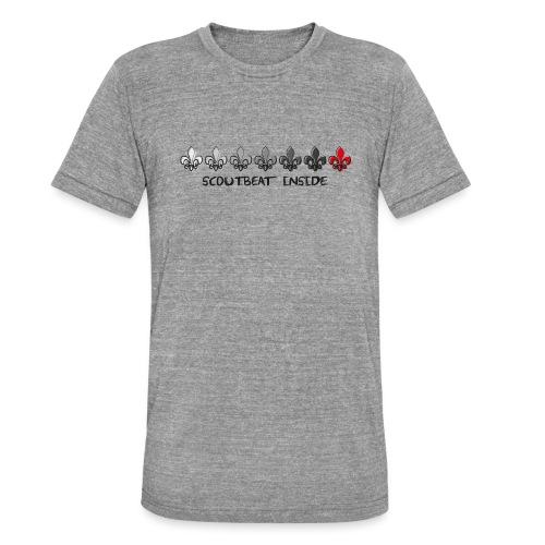 Loading Hearts - Pfadfinder Lilien - Unisex Tri-Blend T-Shirt von Bella + Canvas