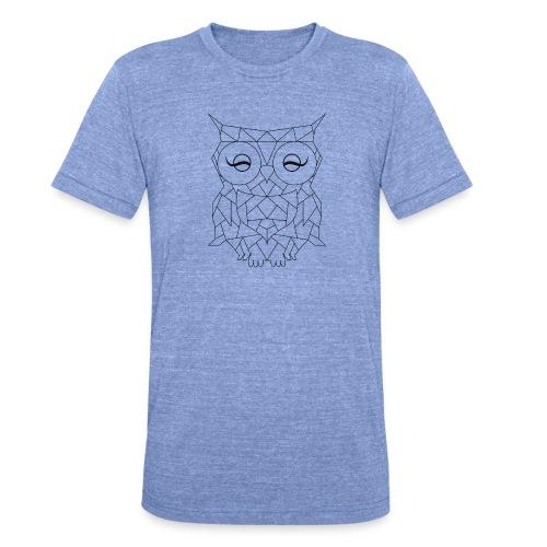 Geometric OWL - T-shirt chiné Bella + Canvas Unisexe