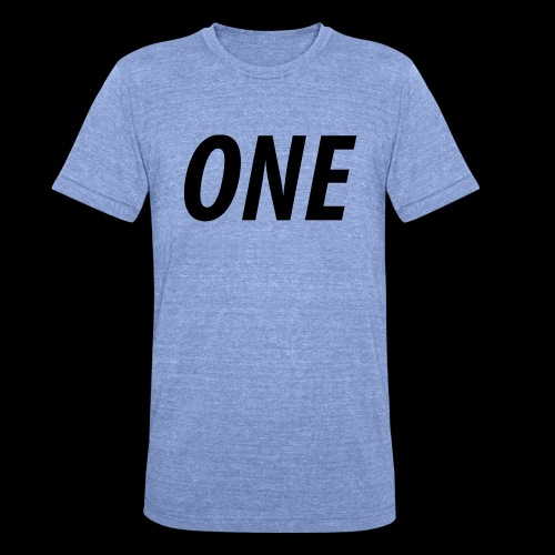 WEAREONE x LETTERS - Unisex tri-blend T-shirt van Bella + Canvas
