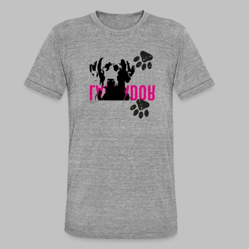 Labrador Kopf Pfoten - Unisex Tri-Blend T-Shirt von Bella + Canvas