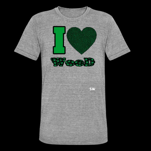 I Love weed - T-shirt chiné Bella + Canvas Unisexe