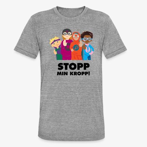 Stopp min kropp! - Triblend-T-shirt unisex från Bella + Canvas
