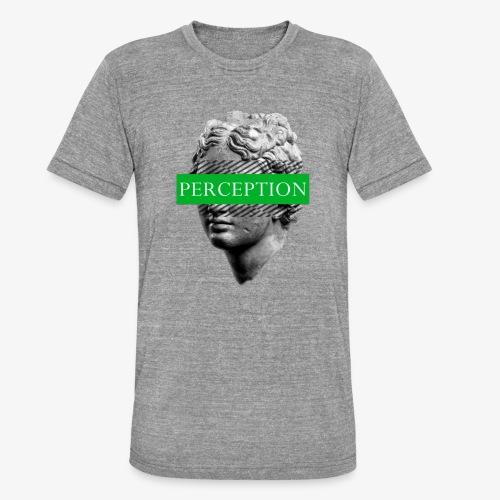 TETE GRECQ GREEN - PERCEPTION CLOTHING - T-shirt chiné Bella + Canvas Unisexe