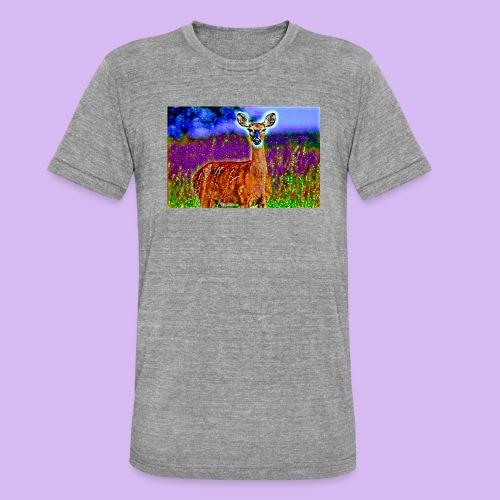 Cerbiatto con magici effetti - Maglietta unisex tri-blend di Bella + Canvas