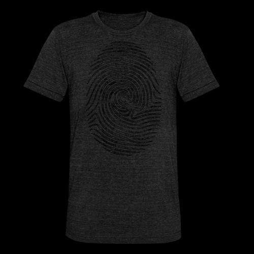 Tintenfisch Fingerabdruck schwarz - Unisex Tri-Blend T-Shirt von Bella + Canvas
