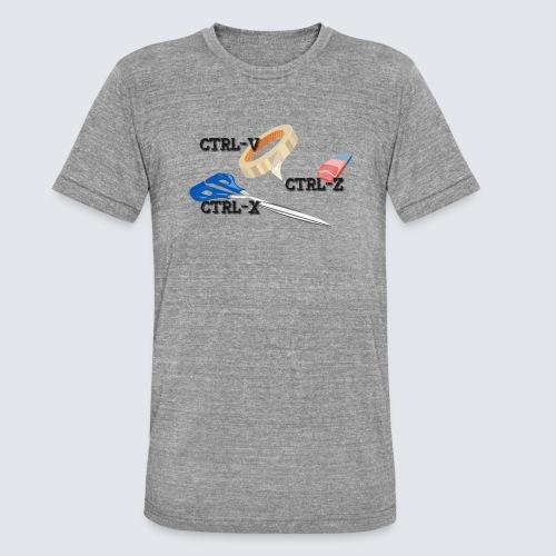 ctrl-c ctrl-x ctrl-z - Unisex Tri-Blend T-Shirt von Bella + Canvas