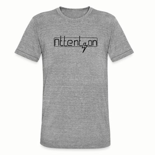 attention - Unisex tri-blend T-shirt van Bella + Canvas