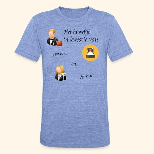 Het huwelijk... - Unisex tri-blend T-shirt van Bella + Canvas