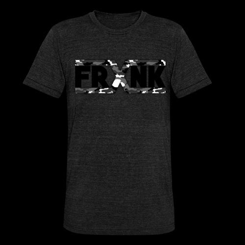 Grey Camo 'FRXNK' Logo - Unisex Tri-Blend T-Shirt by Bella & Canvas