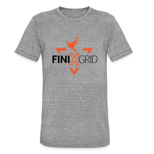 FinixGrid Orange - Unisex Tri-Blend T-Shirt by Bella & Canvas