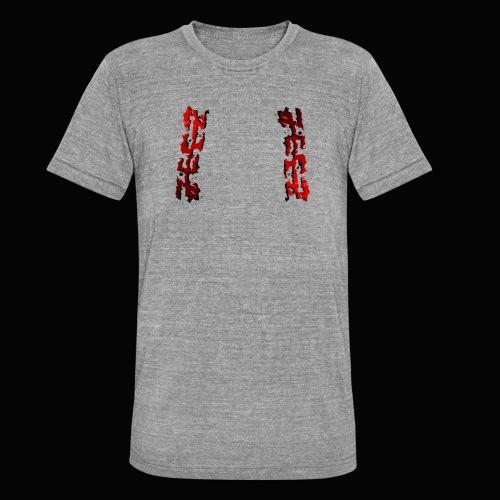 zeez rouge ombre noir abimé - T-shirt chiné Bella + Canvas Unisexe