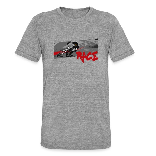 RACE LINE tee - Unisex Tri-Blend T-Shirt by Bella & Canvas
