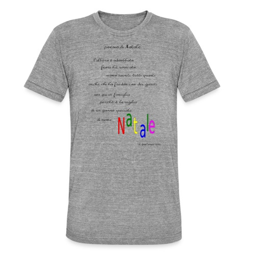 Poesia di Natale 2016 - Maglietta unisex tri-blend di Bella + Canvas
