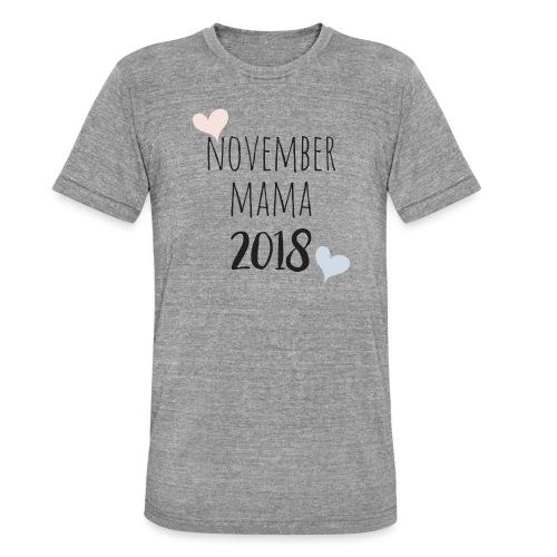 November Mama 2018 - Unisex Tri-Blend T-Shirt von Bella + Canvas