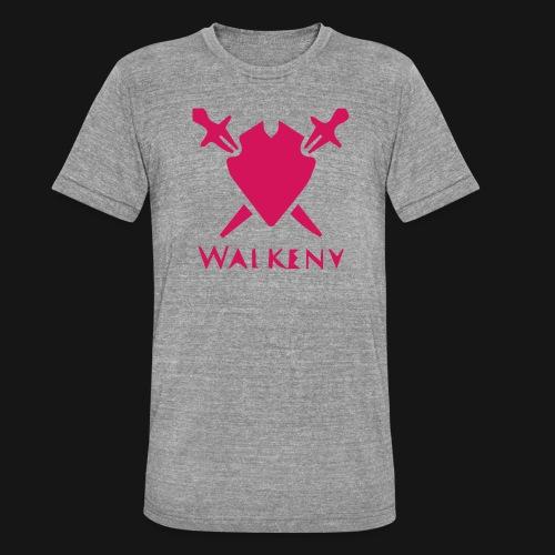 Das Walkeny Logo mit dem Schwert in PINK! - Unisex Tri-Blend T-Shirt von Bella + Canvas