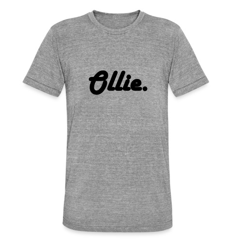 Ollie Harlow Solid - Unisex tri-blend T-shirt van Bella + Canvas