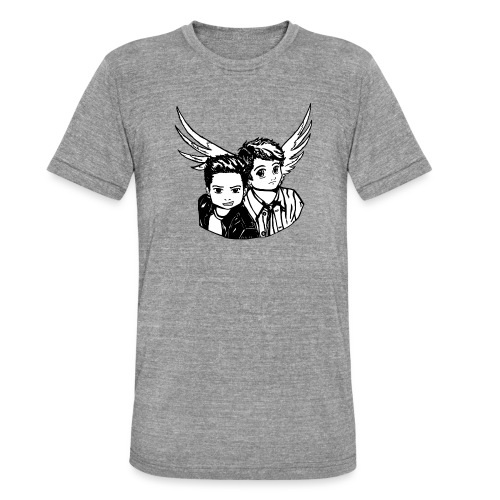 Destiel i sort/hvid - Unisex tri-blend T-shirt fra Bella + Canvas