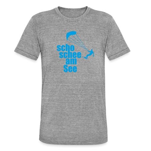 scho schee am See Surfer 01 kite surfer - Unisex Tri-Blend T-Shirt von Bella + Canvas