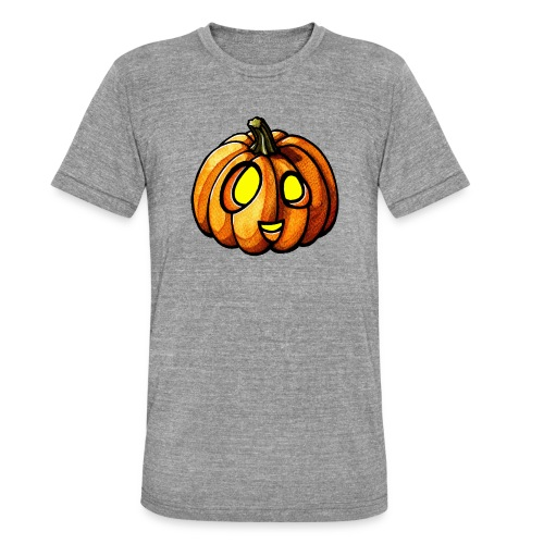 Pumpkin Halloween watercolor scribblesirii - Bella + Canvasin unisex Tri-Blend t-paita.