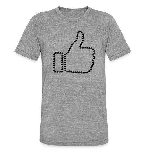 Zustimmung aus Daumen - Unisex Tri-Blend T-Shirt von Bella + Canvas