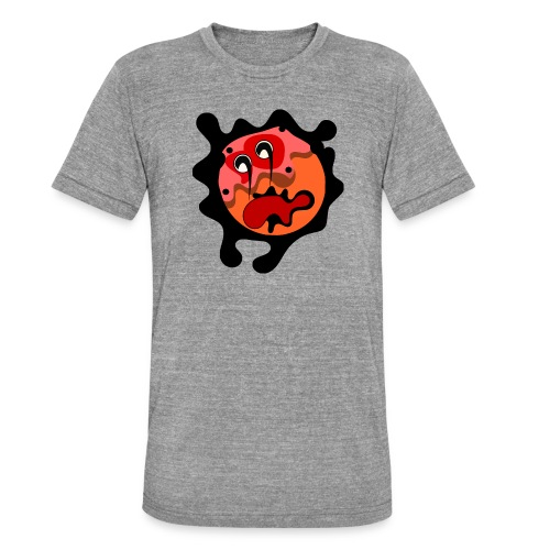 scary cartoon - Unisex tri-blend T-shirt van Bella + Canvas