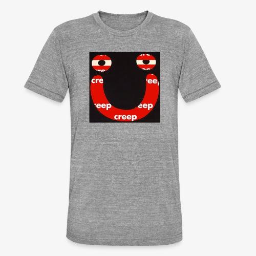 s m i l e - T-shirt chiné Bella + Canvas Unisexe