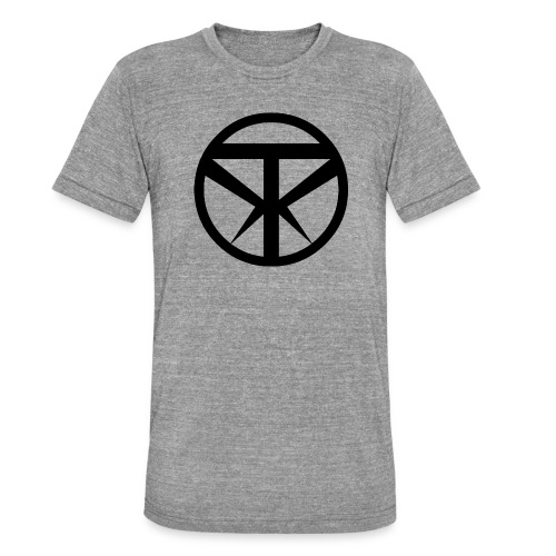 Tridex Logo Black - Unisex Tri-Blend T-Shirt by Bella & Canvas