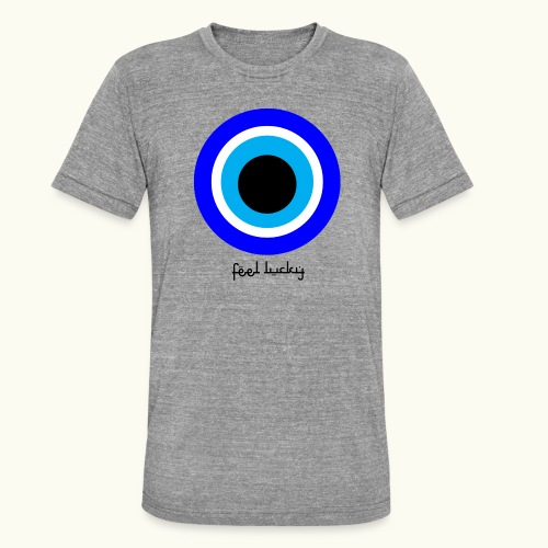 luck eye - Unisex tri-blend T-shirt van Bella + Canvas