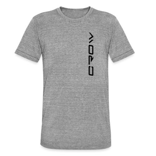 CROW TEXT VERTICAL BLACK T-SHIRT - Unisex Tri-Blend T-Shirt by Bella & Canvas