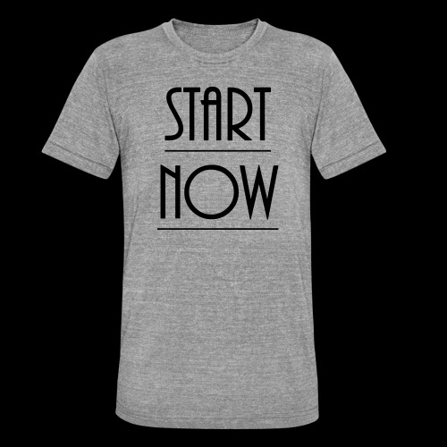 start now - Unisex Tri-Blend T-Shirt von Bella + Canvas