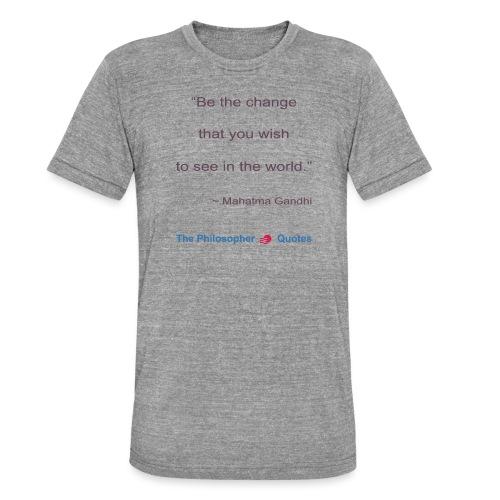 Gandhi Be the change b - Unisex tri-blend T-shirt van Bella + Canvas