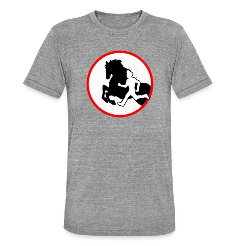 Horse Agility Logo - Unisex Tri-Blend T-Shirt von Bella + Canvas